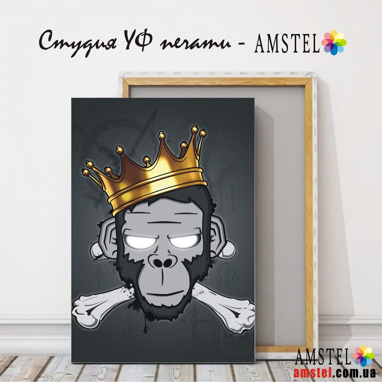 """Печать картин и фото на холсте 300х400, изображение """"Король"""""""