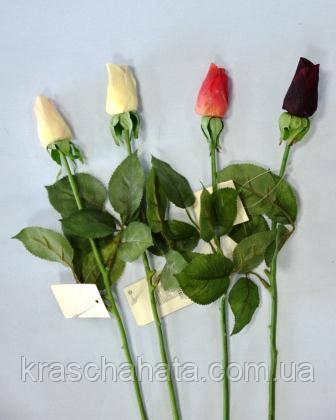 Роза, Бутон, Н45 см, Искусственный цветок, Днепропетровск