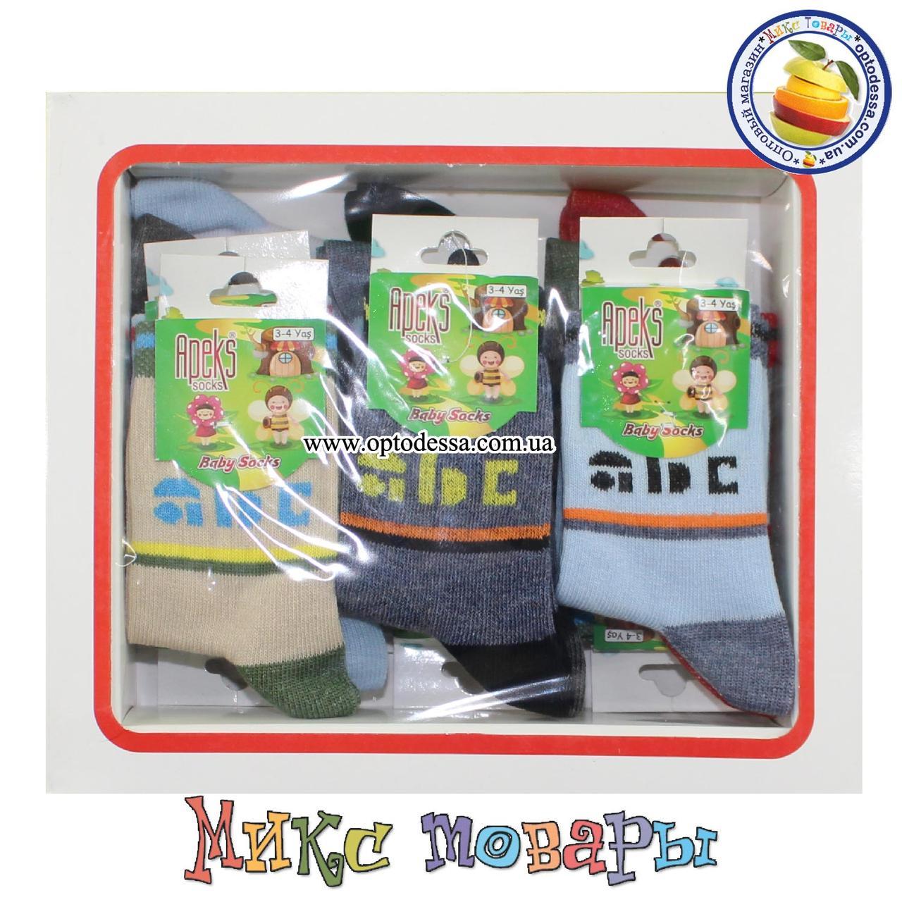 Носки в коробочке для малышей Размер: 3- 4 года (12 шт в упаковке) (5276-1)