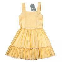 Детское платье-сарафан Kids Couture 2015-90 для девочки 5-10 лет р.110-140 Арт.61008577 ТМ Kids Couture Желтый горох
