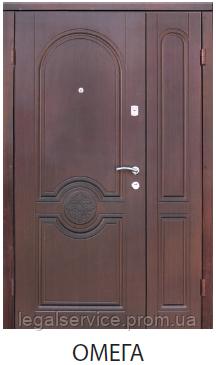 """Входная металлическая полуторная дверь для улицы """"Портала"""" (Стандарт) - модель Омега"""