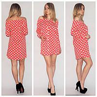 Женское платье с открытыми плечами е-390315