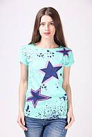 Бирюзовая футболка со звездой