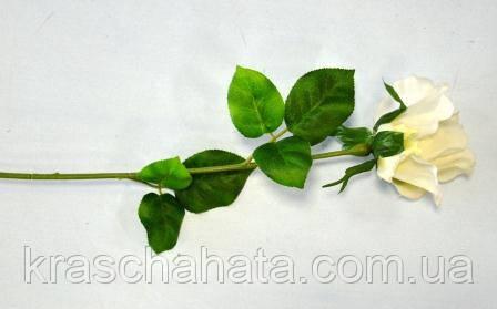 Роза, Белая, Н 59 см, Искусственный цветок, Днепропетровск