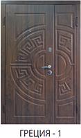 """Входная металлическая полуторная дверь для улицы """"Портала"""" (Стандарт) - модель Греция-1"""