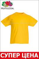 Детская Классическая Футболка для Мальчиков Солнечно-жёлтая Fruit of the loom 61-033-34 1-2