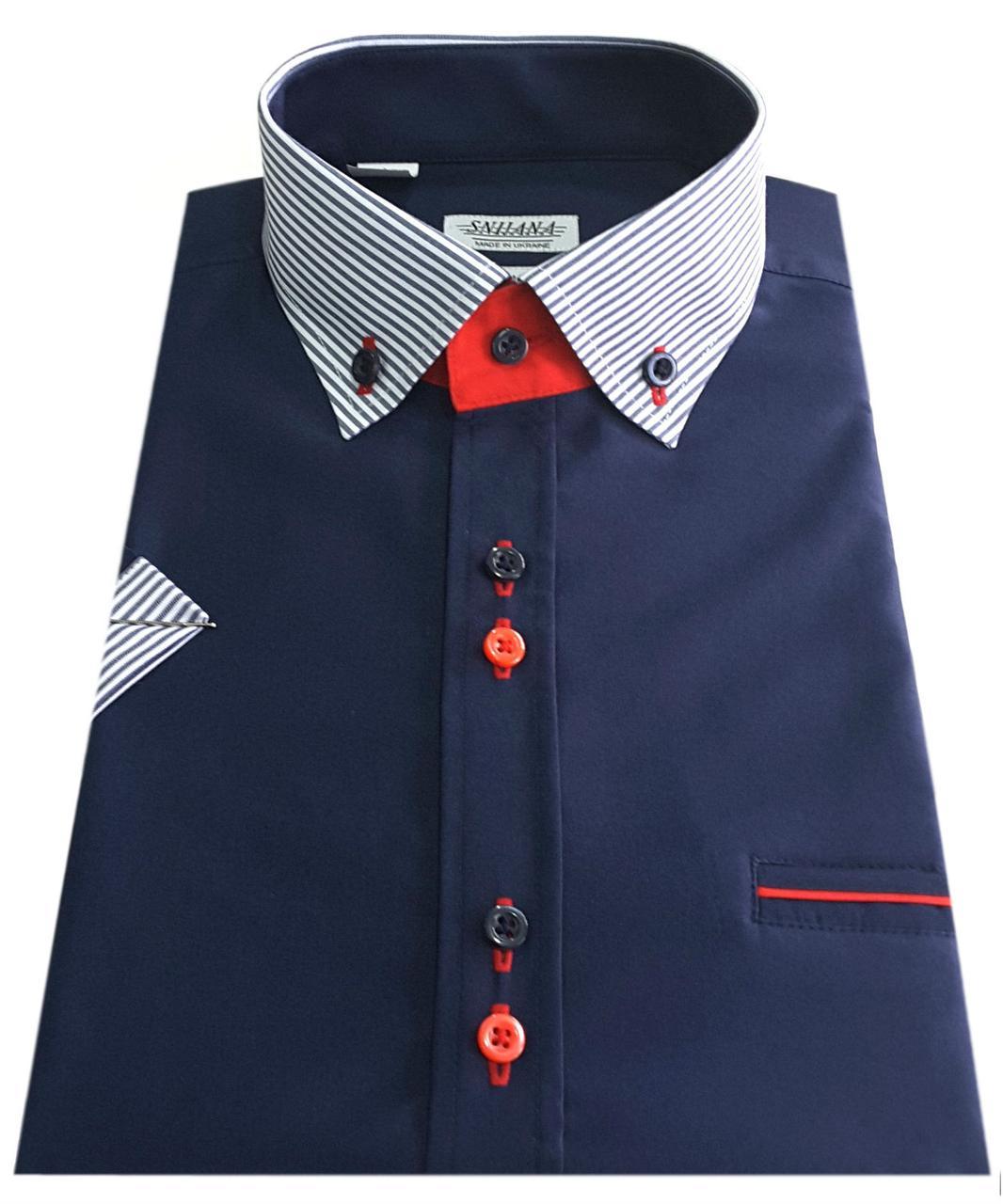 Мужская рубашка с коротким рукавом 3032V4