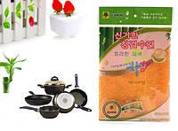 Бамбуковая салфетка для мытья посуды без моющих средств высш сорт 18x23 Корея