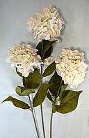 Цветочная ветка, Гортензия, Н 85 см, белая, Искусственные цветы, Днепропетровск, фото 1