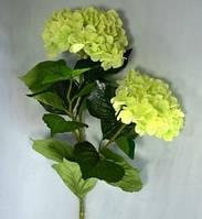 Цветочная ветка, Гортензия, Н 95 см, белая, Искусственные цветы, Днепропетровск