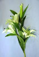 Цветочная ветка, Лилия, Н 85 см, салатовая, Искусственные цветы, Днепропетровск