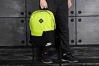 Городской рюкзак спортивный, для ноутбука 3 вида, салатовый
