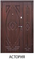 """Входная металлическая полуторная дверь для улицы """"Портала"""" (Стандарт) - модель Астория"""