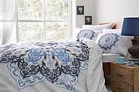 Полуторное постельное белье TAC Madelina Blue Ранфорс