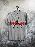 Футболка мужская Nike Jordan Fresh Air (серая)