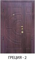 """Входная металлическая полуторная дверь для улицы """"Портала"""" (Стандарт) - модель Греция-2"""