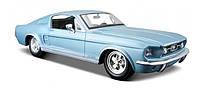 Автомодель Maisto 1:24 Ford Mustang GT 1967 Голубой (31260 met. blue), фото 1