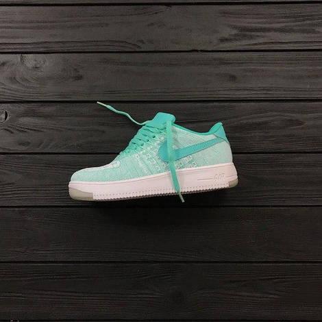 Кроссовки женские Nike air Flyknit Tiffany, найк аир флайкнит, реплика