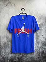 Футболка мужская Nike Jordan Fresh Air (синяя) реплика