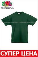 Детская Классическая Футболка для Мальчиков Тёмно-зелёная Fruit of the loom 61-033-38 3-4