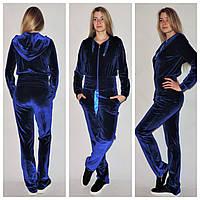 Велюровый женский костюм н-39109