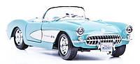 Автомодель Maisto 1:24 Chevrolet Corvette 1957 Голубой (31275 lt. blue)