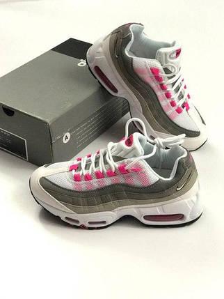 Женские кроссовки Nike Air Max 95 Grey Pink топ реплика, фото 2