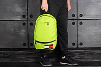Городской рюкзак спортивный, для ноутбука 2 вида, салатовый