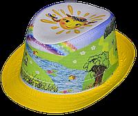 """Шляпа детская """"Фотопринт Гномики""""  красивая на  девочку или мальчика  для праздника, утренника, в детский сад"""