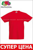 Детская Классическая Футболка для Мальчиков Красная Fruit of the loom 61-033-40 5-6