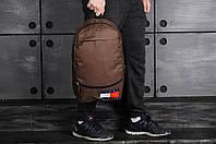 Городской рюкзак спортивный, для ноутбука 2 вида, коричневый