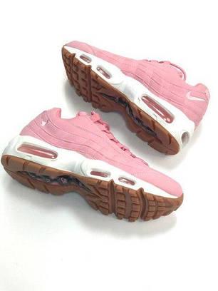 Женские кроссовки Nike Air Max 95 Pink розовые топ реплика, фото 2