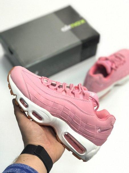 Женские кроссовки Nike Air Max 95 Pink розовые топ реплика