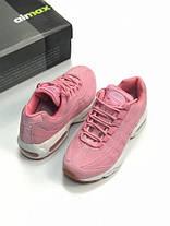 Женские кроссовки Nike Air Max 95 Pink розовые топ реплика, фото 3