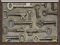 Ключница много ключей на металлической пластине