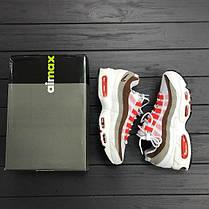 Женские кроссовки Nike Air Max 95 white\brown топ реплика, фото 3