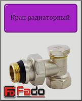 """Кран радиаторный нижний Fado NEW 1/2"""" угловой"""