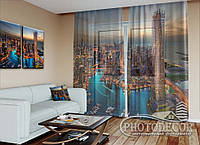 "ФотоТюль ""Небоскребы Дубаи"" (2,5м*7,5м, на длину карниза 5,0м)"