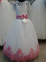 Длинное бальное платье для девочки