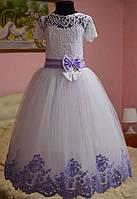 Нарядное длинное бальное платье для девочки, фото 1