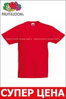Детская Классическая Футболка для Мальчиков Красная Fruit of the loom 61-033-40 14-15