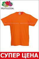 Детская Классическая Футболка для Мальчиков Оранжевая Fruit of the loom 61-033-44 3-4