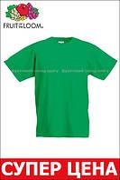 Детская Классическая Футболка для Мальчиков Ярко-зелёная Fruit of the loom 61-033-47 3-4