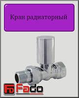 """Кран радиаторный верхний Fado ХРОМ 1/2"""" прямой"""