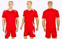 Футбольная форма подростковая Perfect  CO-2016B-R (PL, рост 120-150см, красный-белый)