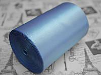 Лента атласная голубая (ширина 10см, намотка 20м)