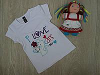 "Детская футболка ""I Love Cats"" белая р.5-6"