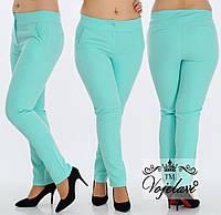 Стильные женские брюки с листочками (разные цвета) 48-54  код 209 Б