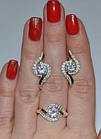 Набор ювелирных украшений из серебра с золотом