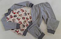 Трикотажная пижама с манжетами. Рост 92-104. На возраст  2-3 года